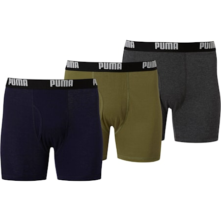 Men's Cotton Boxer Briefs [3 Pack], OLIVE, small